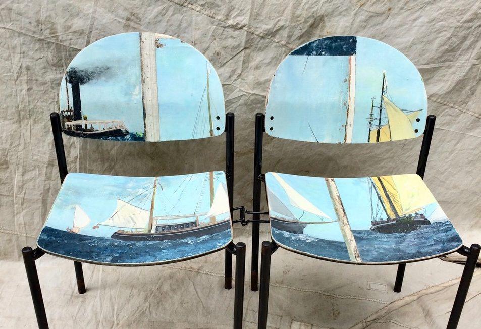 LESLIE oschmann swarm home chairs paintings